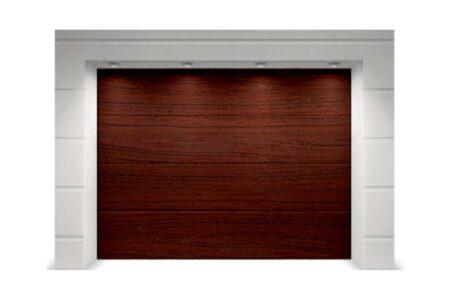 Подъемные ворота для гаража Алютех Классик 2250х2125 L-гофр цвет вишня - фото - продукция компании ВСВ-Групп
