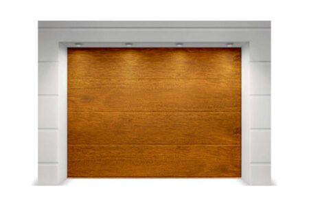 Секционные ворота Classic 3250х2250 с сэндвич-панелью L-гофр в цвете золотой дуб - фото - продукция компании ВСВ-Групп