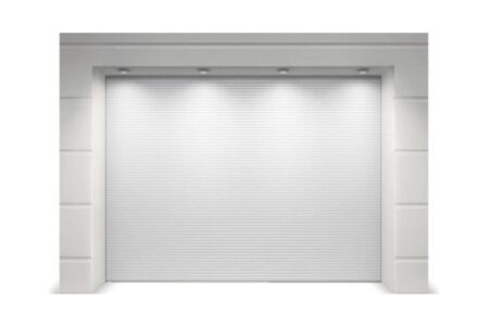 Гаражні ворота Prestige 1750х1750 мікрохвиля Біла (woodgrain) - фото - продукция компании ВСВ-Групп