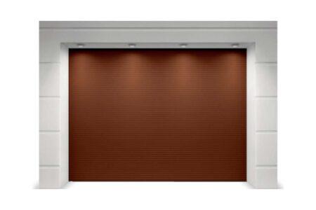 Гаражные секционные ворота 3125х2500 серия Trend в коричневом цвете - фото - продукция компании ВСВ-Групп