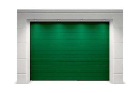 Гаражні ворота з сендвіч-панелей Alutech Trend 2500х2125 мм S-гофр зеленого кольору - фото - продукция компании ВСВ-Групп