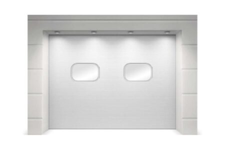 Белые промышленные ворота 2875х3000 серии ProPlus для склада - фото - продукция компании ВСВ-Групп