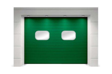 Складские промышленные ворота ProPlus 3000х3625 с полотном S-гофр зеленый мох - фото - продукция компании ВСВ-Групп