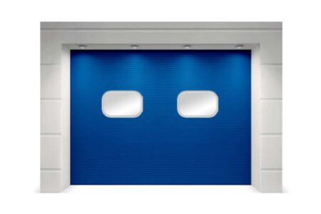 Секционные промышленные ворота 3500х3500 серия ProPlus с полотном микроволна - фото - продукция компании ВСВ-Групп