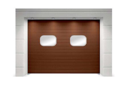 Промышленные ворота ProPlus 3625х4000 S-гофр коричневые - фото - продукция компании ВСВ-Групп