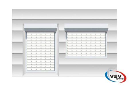 Роллетные решетки на дверной проём 3100х3200 из профиля AEG56 - фото - продукция компании ВСВ-Групп