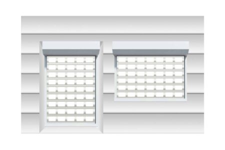Защитные роллетные решетки AEG84 900х1400 - фото - продукция компании ВСВ-Групп