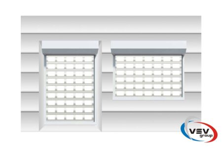 Роллетные решетки AEG84 на двери 2300х3000 - фото - продукция компании ВСВ-Групп