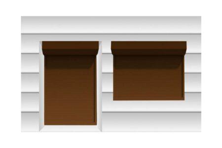 Роллеты с повышенной теплоизоляцией в шоколадно-коричневом цвете - фото - продукция компании ВСВ-Групп