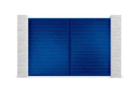 Алюмінієві розсувні ворота з заповненням сендвіч-панелями S-гофр 3000х1460 - фото - продукция компании ВСВ-Групп