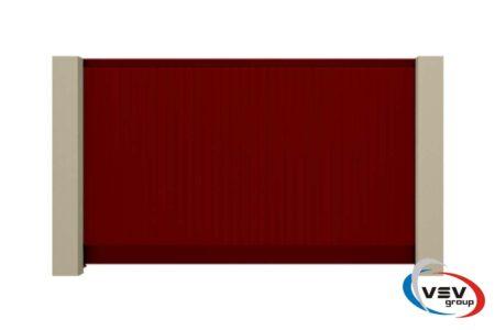 Въездные алюминиевые ворота Prestige 3625х1710 с заполнением сэндвич-пенелями S-гофр - фото - продукция компании ВСВ-Групп