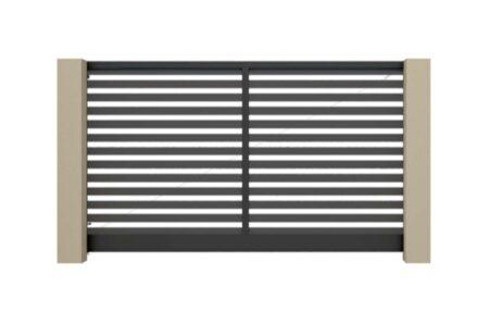 В'їзні ворота Престиж 2625х1460 з алюмінієвим заповненням - фото - продукция компании ВСВ-Групп