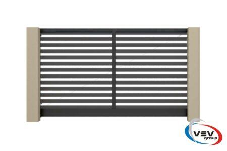 Въездные ворота Престиж 2625х1460 с алюминиевым заполнением - фото - продукция компании ВСВ-Групп