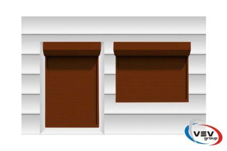 Захисні ролети з підвищеною стійкістю до злому в коричневому кольорі - фото - продукция компании ВСВ-Групп
