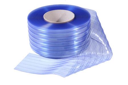 Материал пвх для завес 300х3 ребристый прозрачный 1 пог.м. - фото - продукция компании ВСВ-Групп